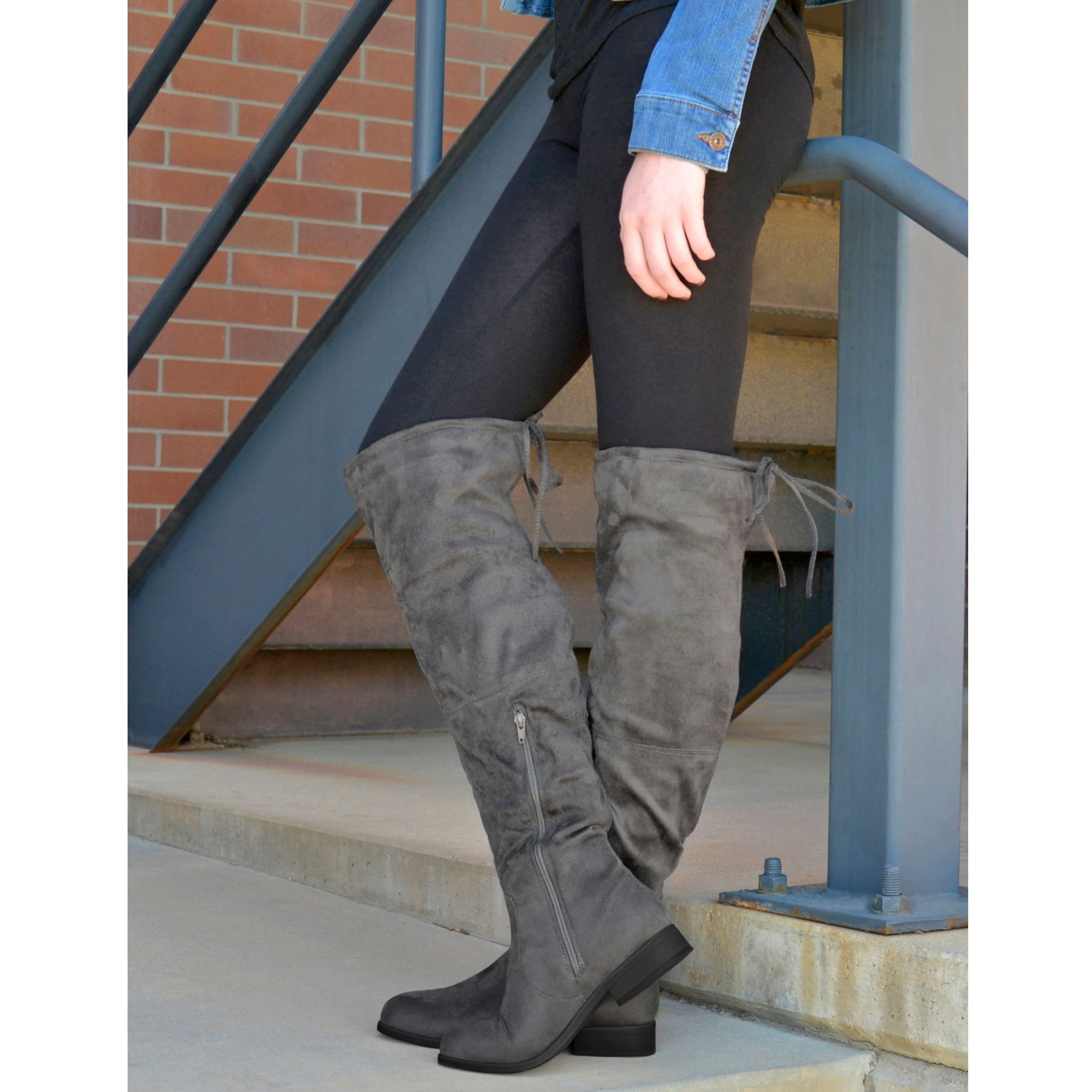 Journee Collection Mount ... Women's Over-the-Knee Boots 2014 new cheap online ebay cheap price discount free shipping TbuBtIwGY
