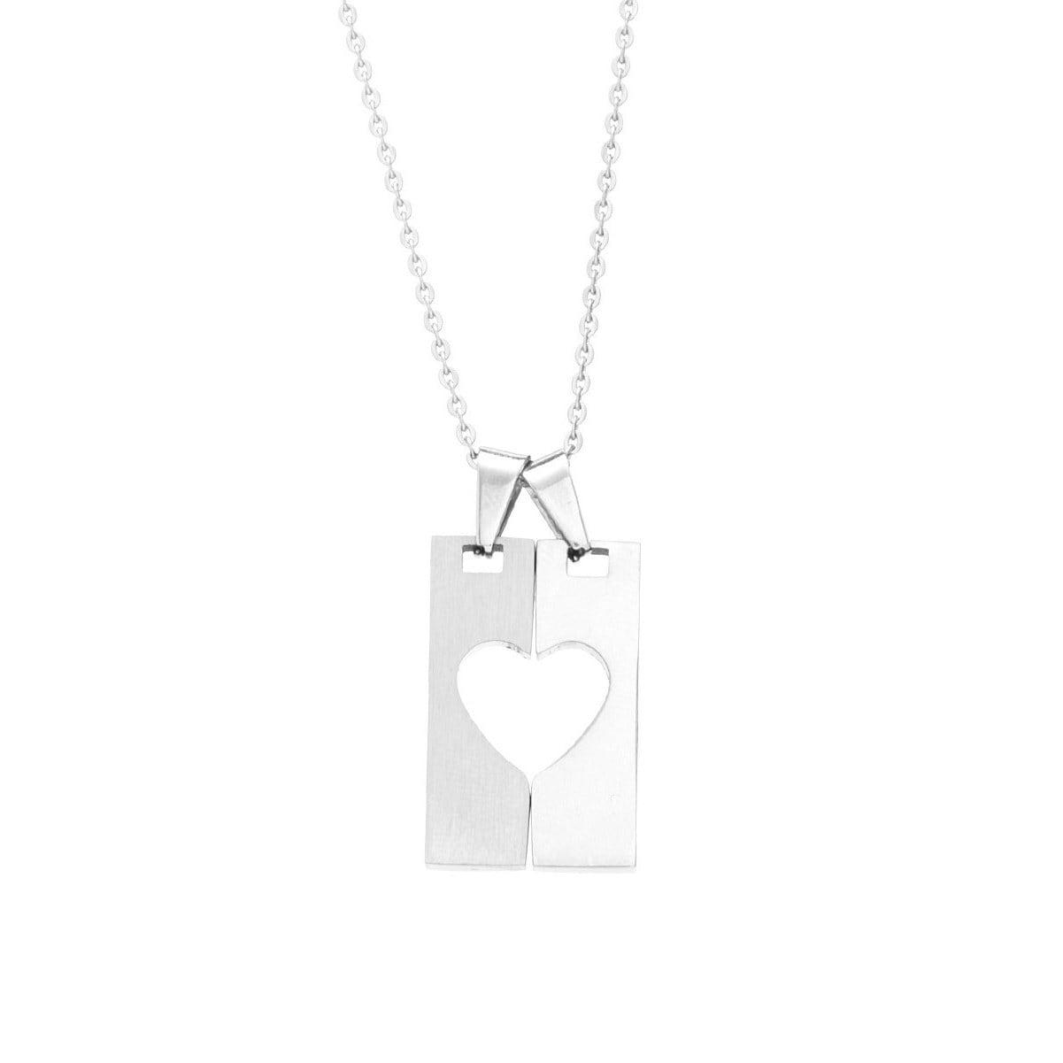 Shop james cavolini stainless steel heart lock pendant necklace shop james cavolini stainless steel heart lock pendant necklace free shipping today overstock 10426564 aloadofball Images