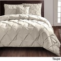 Carmen 4-piece Comforter Set King Size in Taupe (As Is Item)