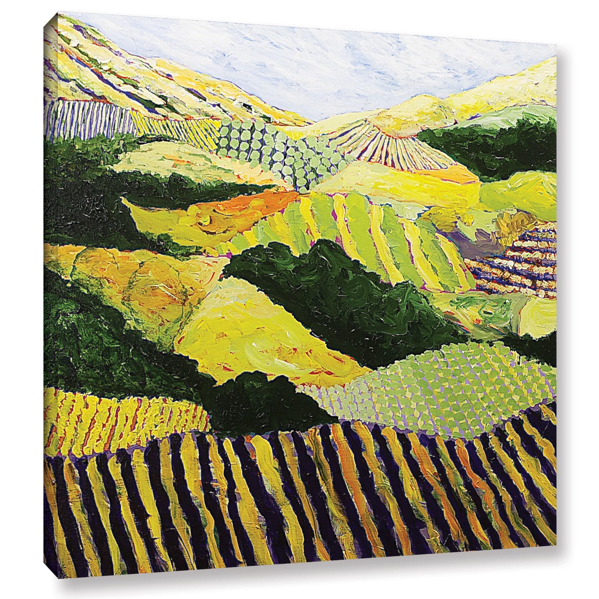 ArtWall Allan Friedlander \'Delta Fields\' Gallery-wrapped Canvas ...