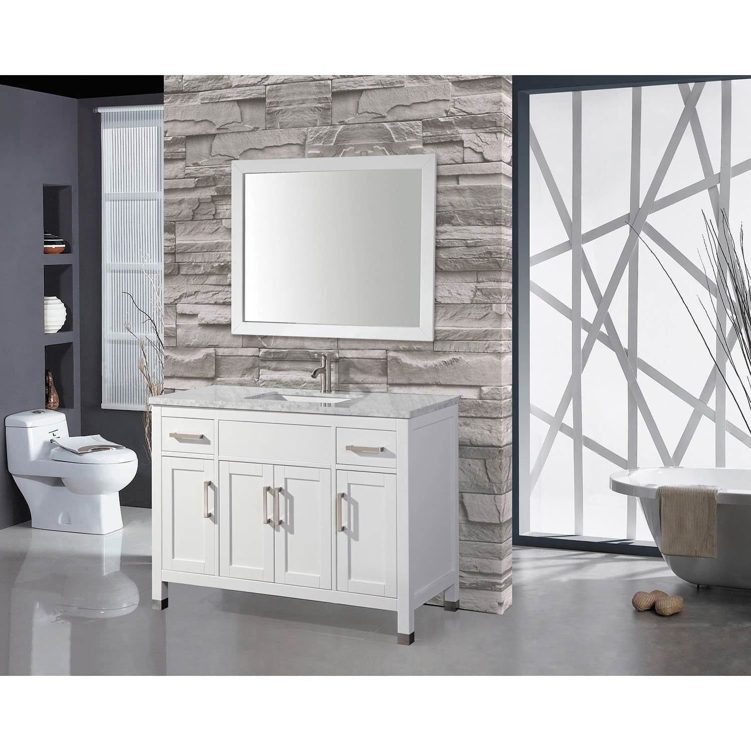 Mtd Vanities Ricca 60 Inch Single Sink Bathroom Vanity Set With Free Mirror And Faucet Shipping Today 10428047
