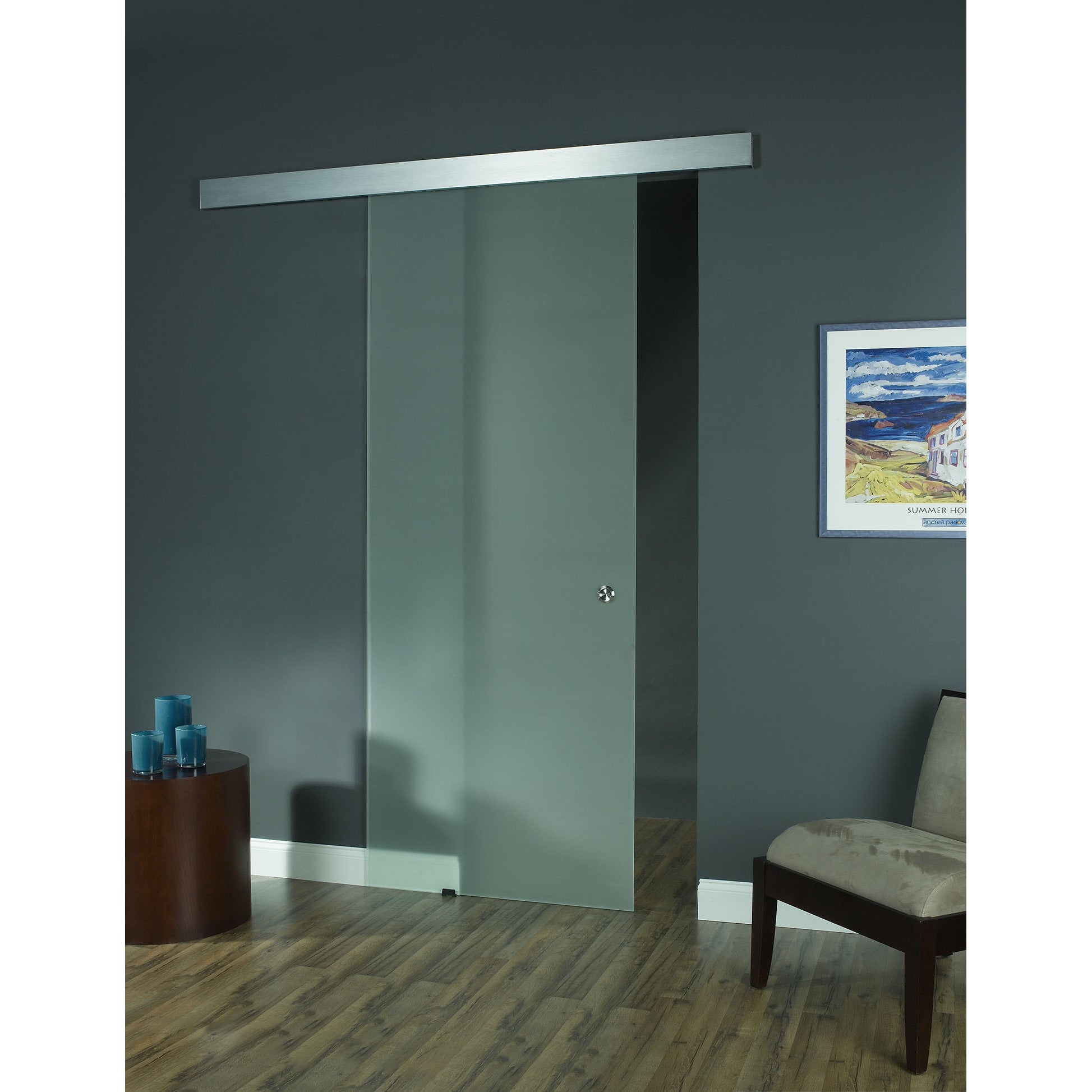 Opaque Glass Barn Door (36x96) - Free Shipping Today - Overstock - 17527379  sc 1 st  Overstock & Opaque Glass Barn Door (36x96) - Free Shipping Today - Overstock ...
