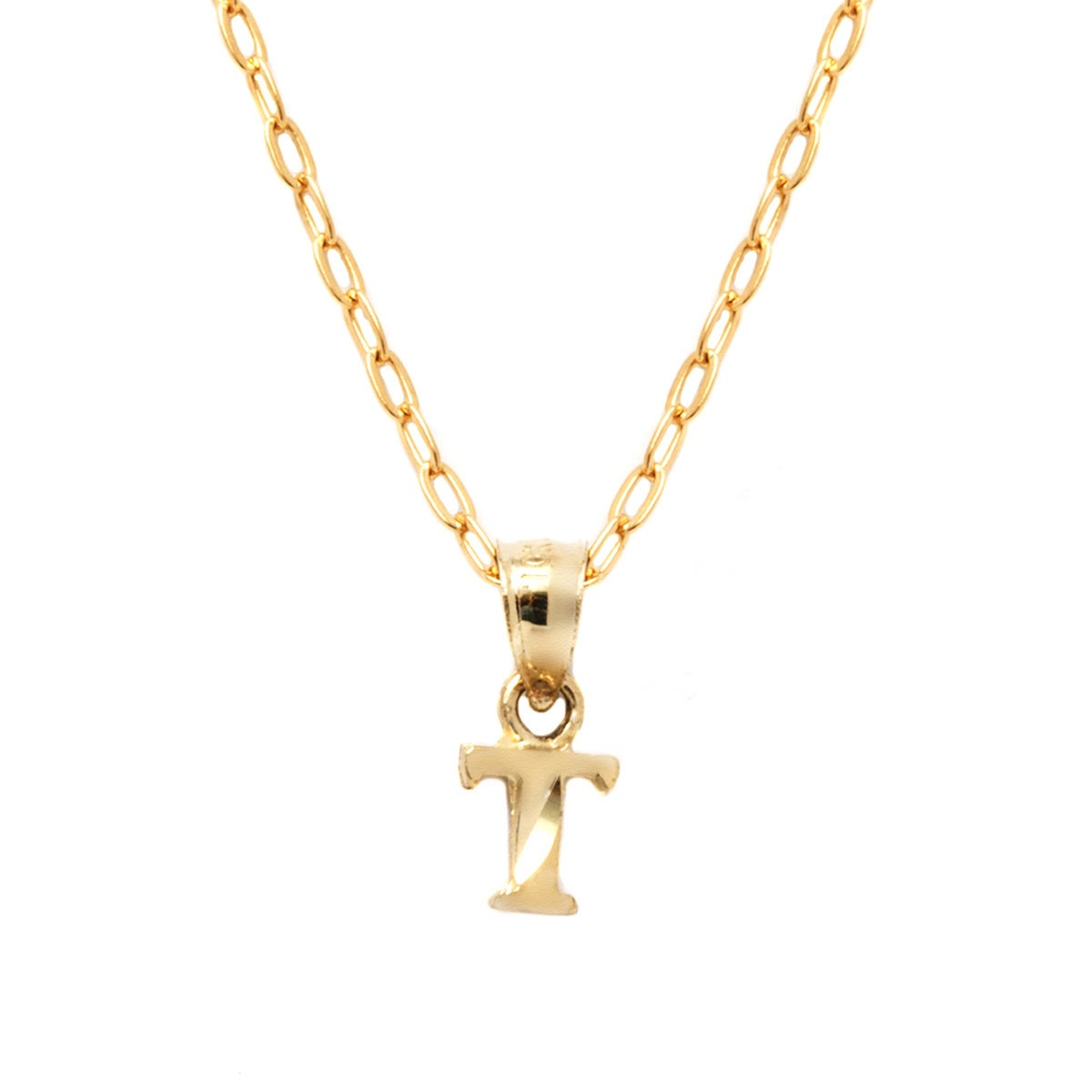 diamond gold initial letter in white pendant necklace l