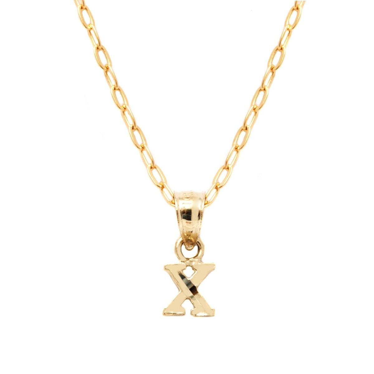 c85e664aa1460 Pori 10k Yellow Gold Diamond-cut Initial Pendant Necklace