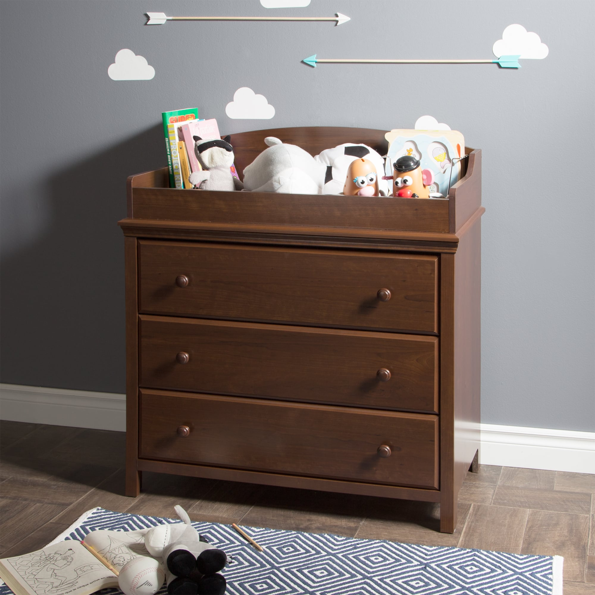 Gentil Shop South Shore Cotton Candy Changing Table With Drawers   Free Shipping  Today   Overstock.com   10429305