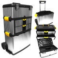 Massive and Mobile 3 Piece Stainless Steel Tool Box by Stalwart