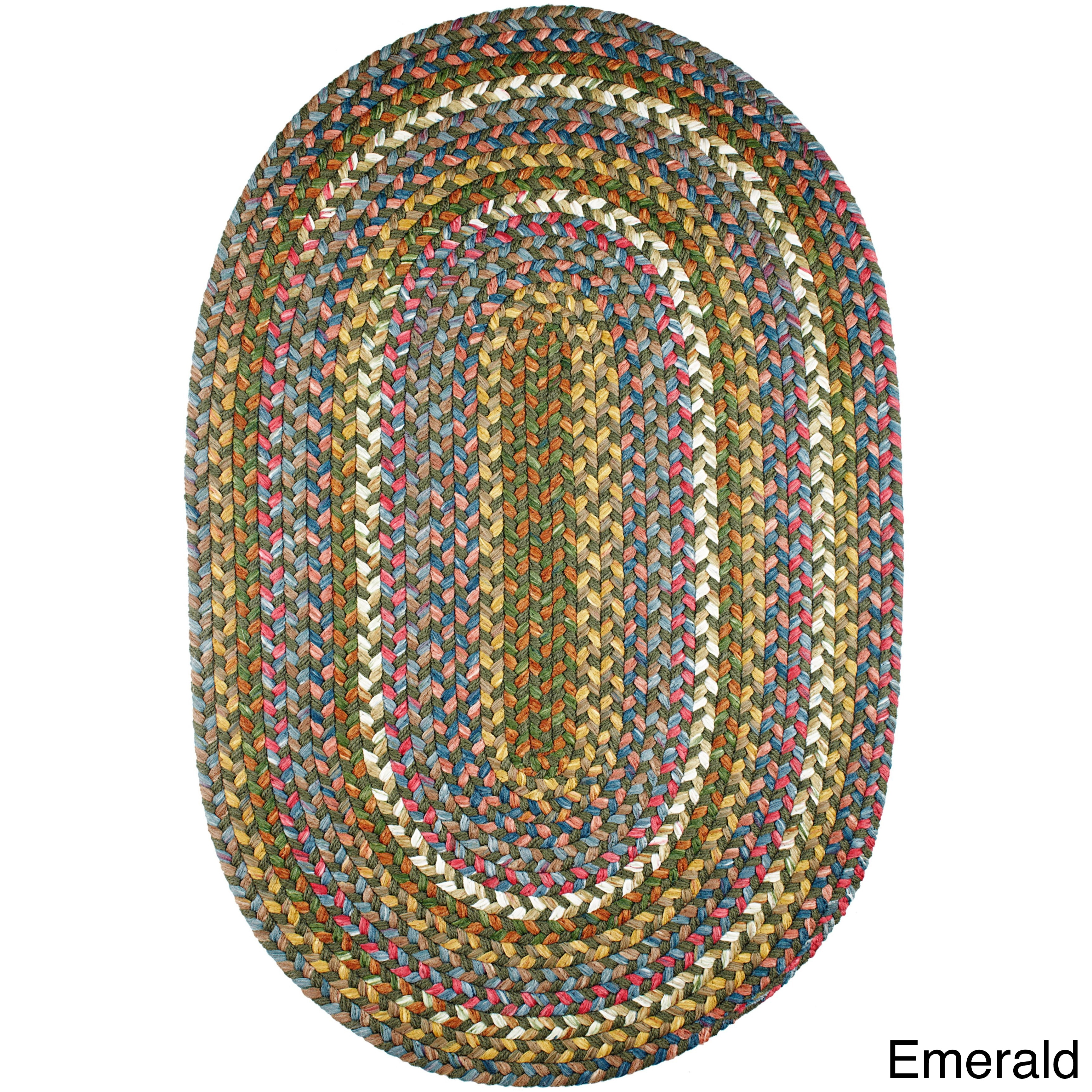 Charisma Indoor Outdoor Oval Braided Rug By Rhody 5 X 8 On Free Shipping Today 10432889
