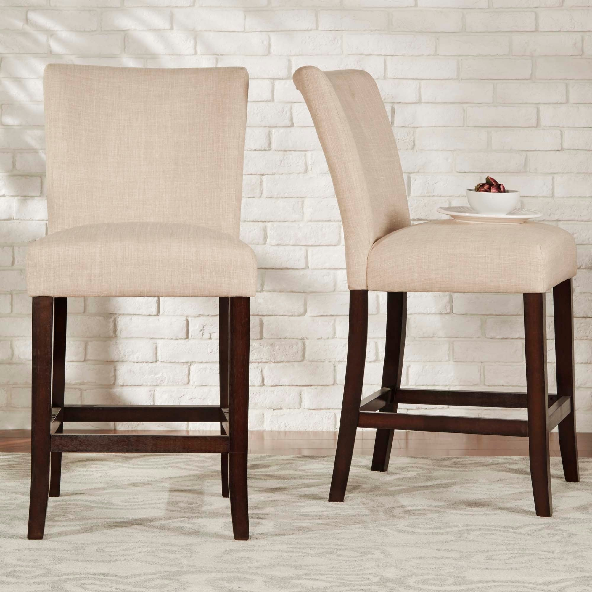 Parson Classic Linen Counter Height High Back Stools (Set Of 2) By INSPIRE  Q Bold   Free Shipping Today   Overstock.com   17530696