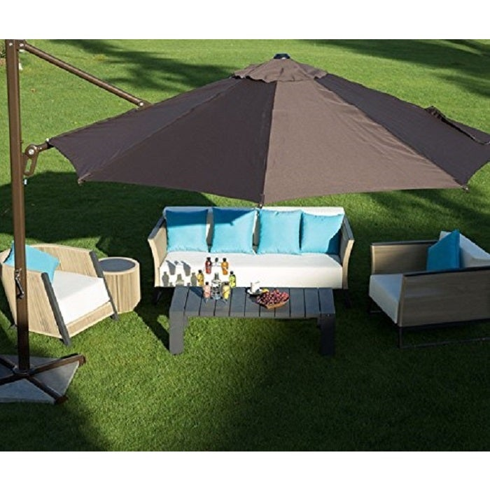 Shop Abba Patio 11 Foot Octagon Cantilever Vented Tilt And Crank Lift Patio  Umbrella With Cross Base   Free Shipping Today   Overstock.com   10433118