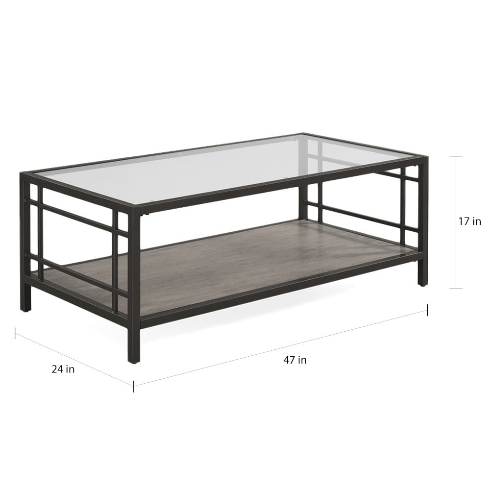Shop Copper Grove Alice Wood/ Glass/ Metal Coffee Table   Free Shipping  Today   Overstock.com   10433217
