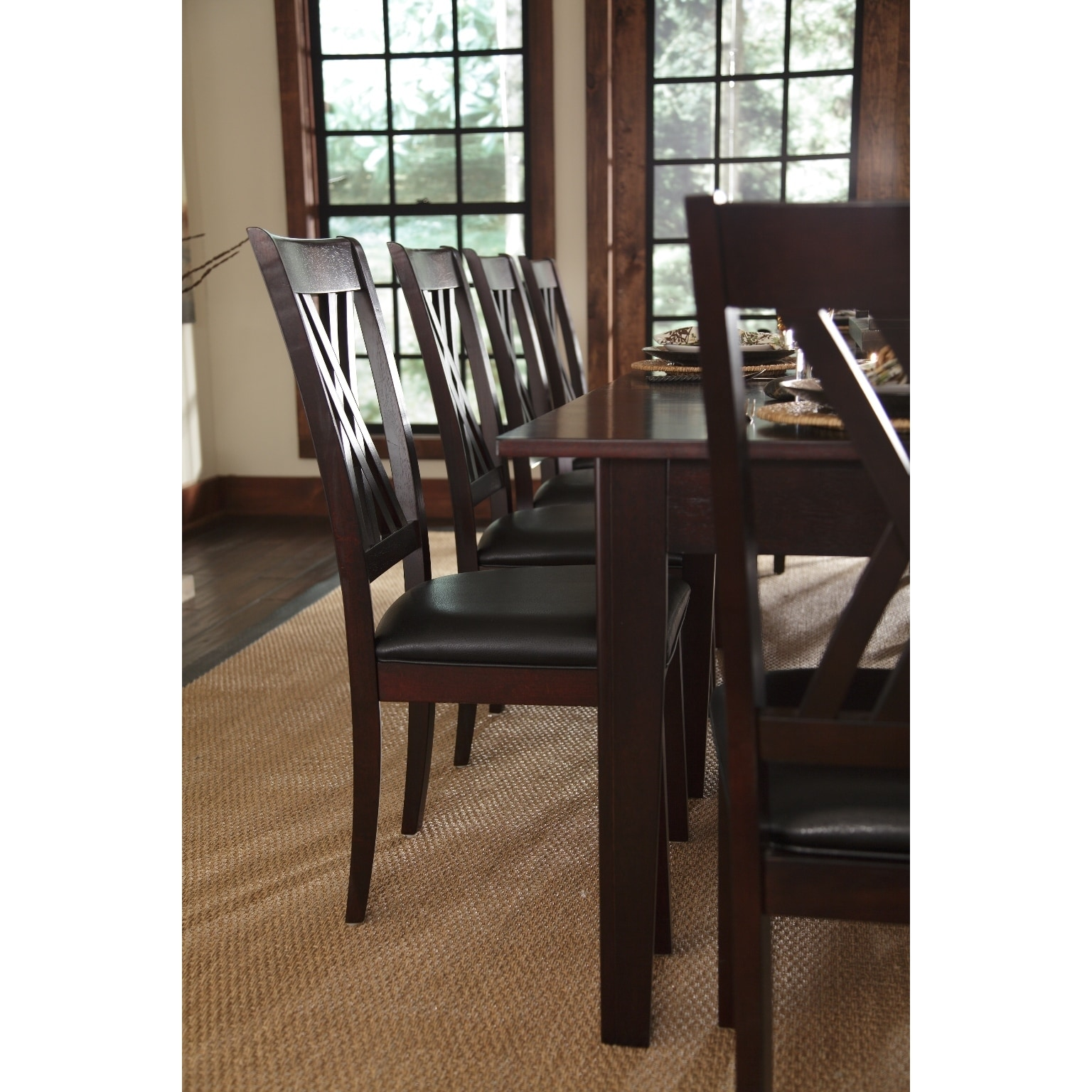 Asha 9 Piece Solid Wood Dining Set   Free Shipping Today   Overstock    17532356