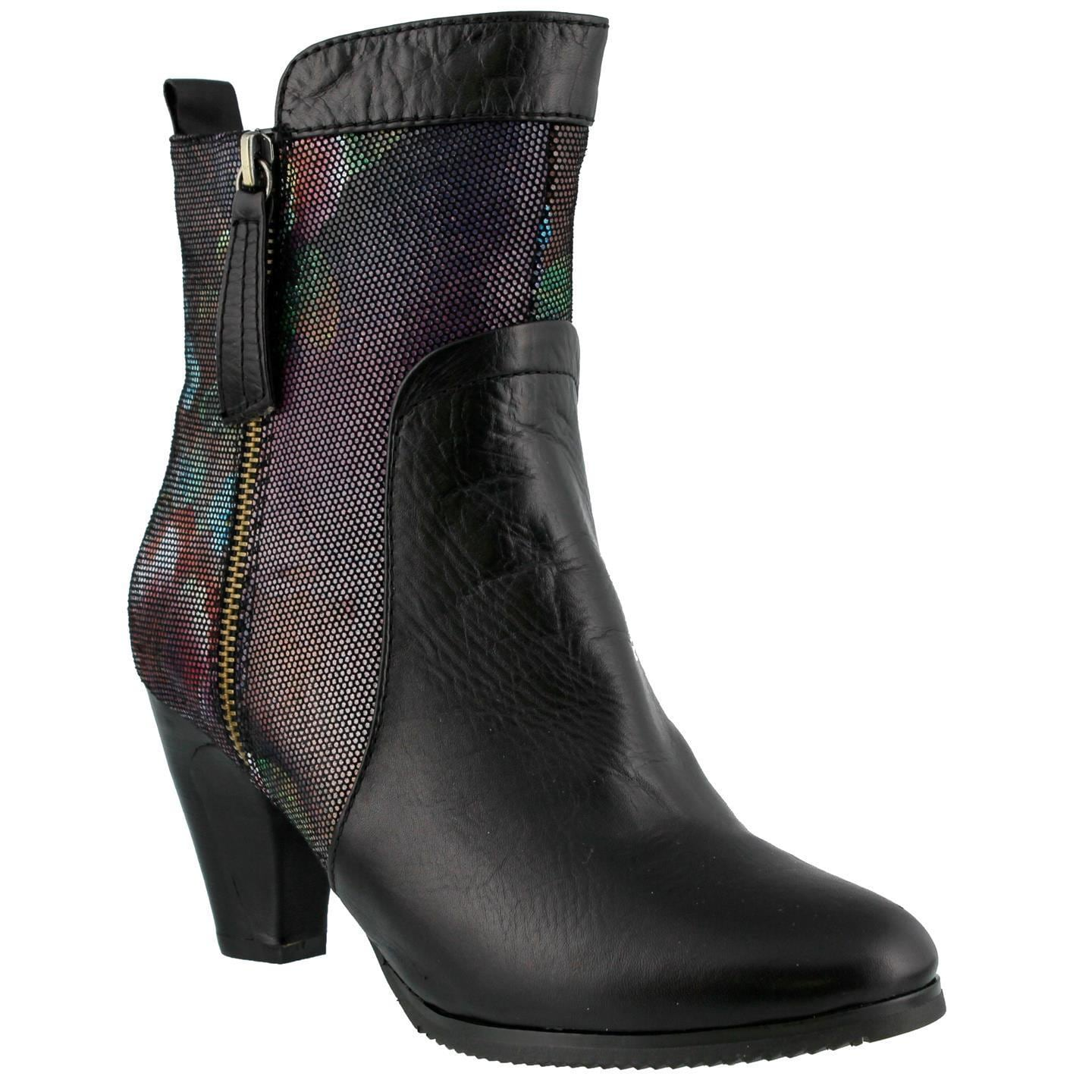 Women's L'Artiste by Spring Step Moonlight Ankle Boot Black Multi Leather -  Free Shipping Today - Overstock.com - 17532749
