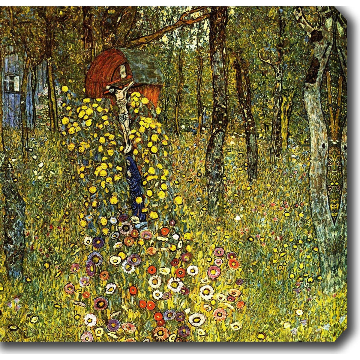 Shop Gustav Klimt \'Farm Garden with Crucifix\' Oil on Canvas Art ...