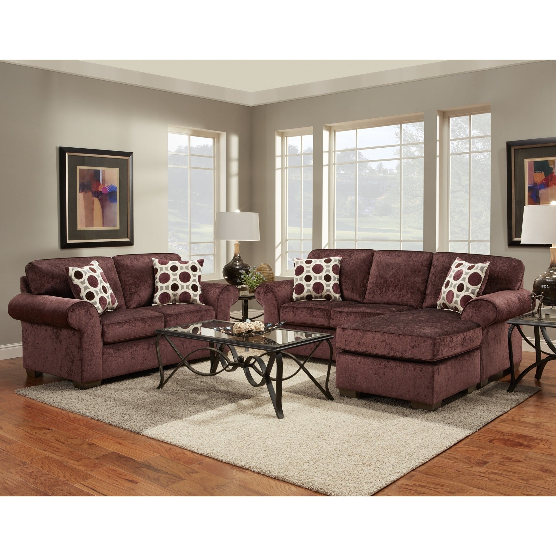 and loveseat shop sets set furniture chocolate sofa fabric room living flatsuede