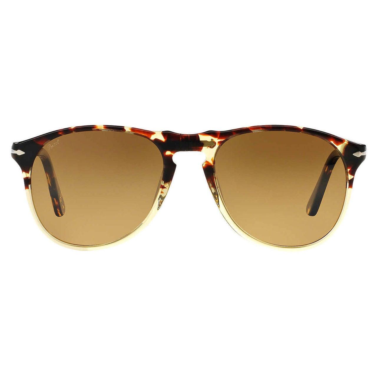 7bbc3646dd4 Shop Persol Men s PO9649S Plastic Pilot Polarized Sunglasses - Tortoise -  Large - Free Shipping Today - Overstock.com - 10437815
