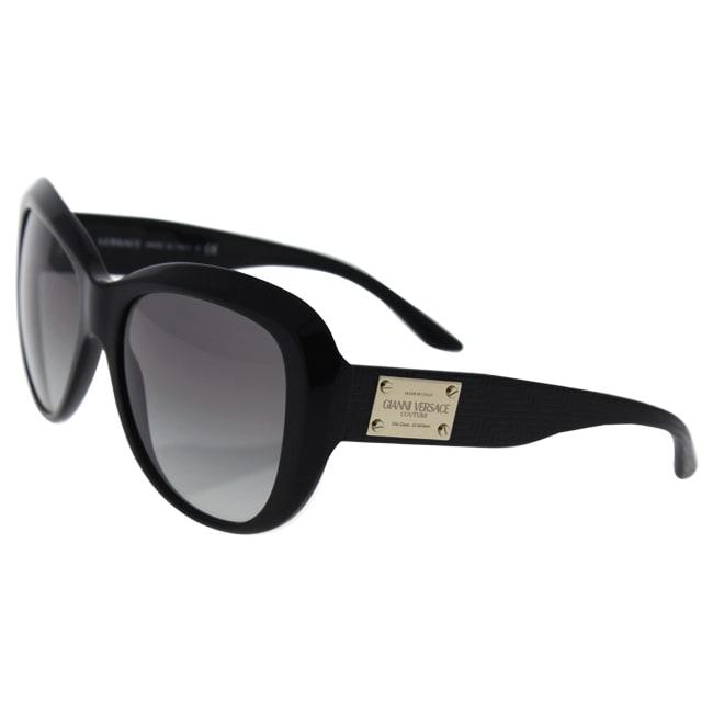 9b83e4b23d7 Shop Versace Women s VE4285 Plastic Butterfly Sunglasses - Black - Free  Shipping Today - Overstock - 10437883