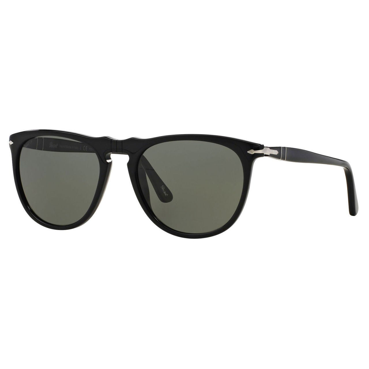 f19543e73c3ba Shop Persol Men s PO3114S Plastic Pilot Polarized Sunglasses - Black ...