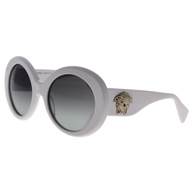 d23078776473 Shop Versace Women s VE4298 Plastic Round Sunglasses - White - Free  Shipping Today - Overstock - 10438063