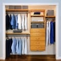 John Louis Home Deluxe 16-inch Honey Maple 5-drawer Closet Organizer