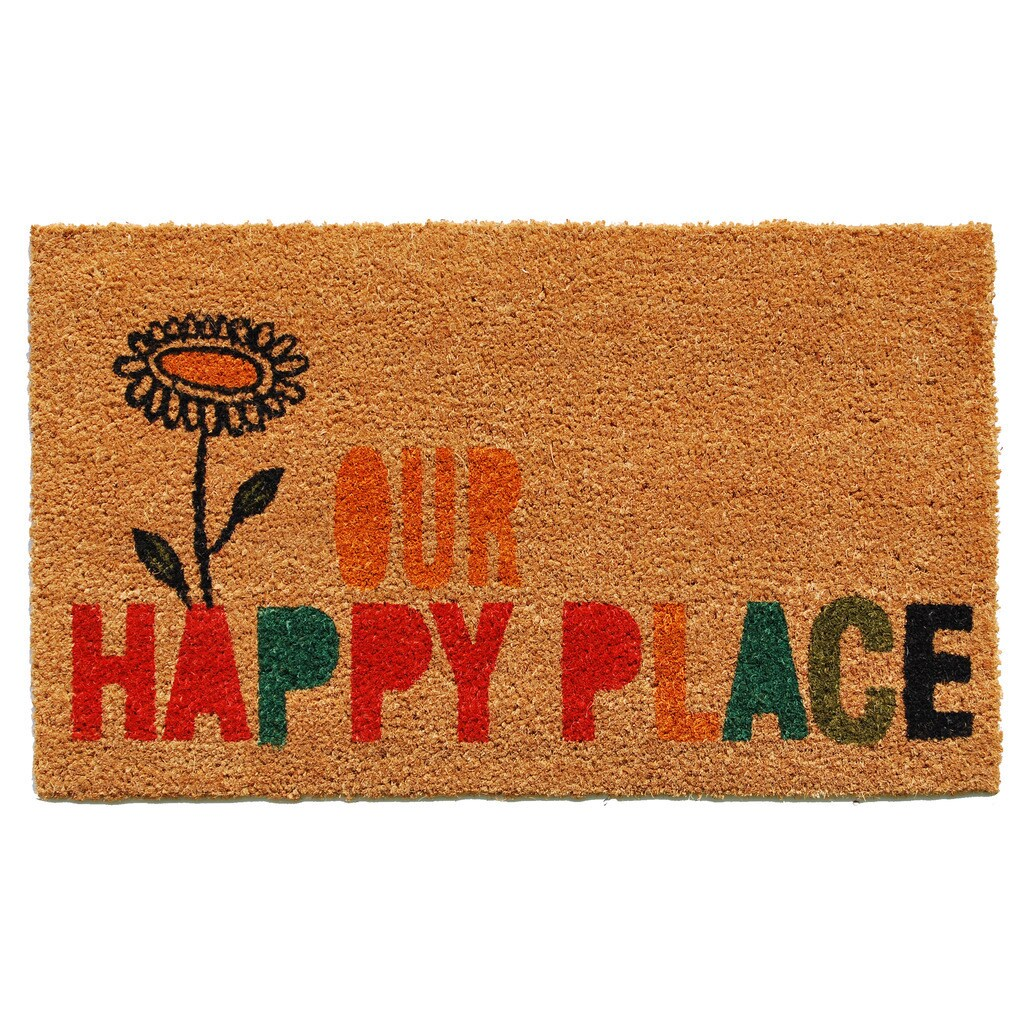 Our Happy Place Doormat (1'5 x 2'5) - Free Shipping On Orders Over ...