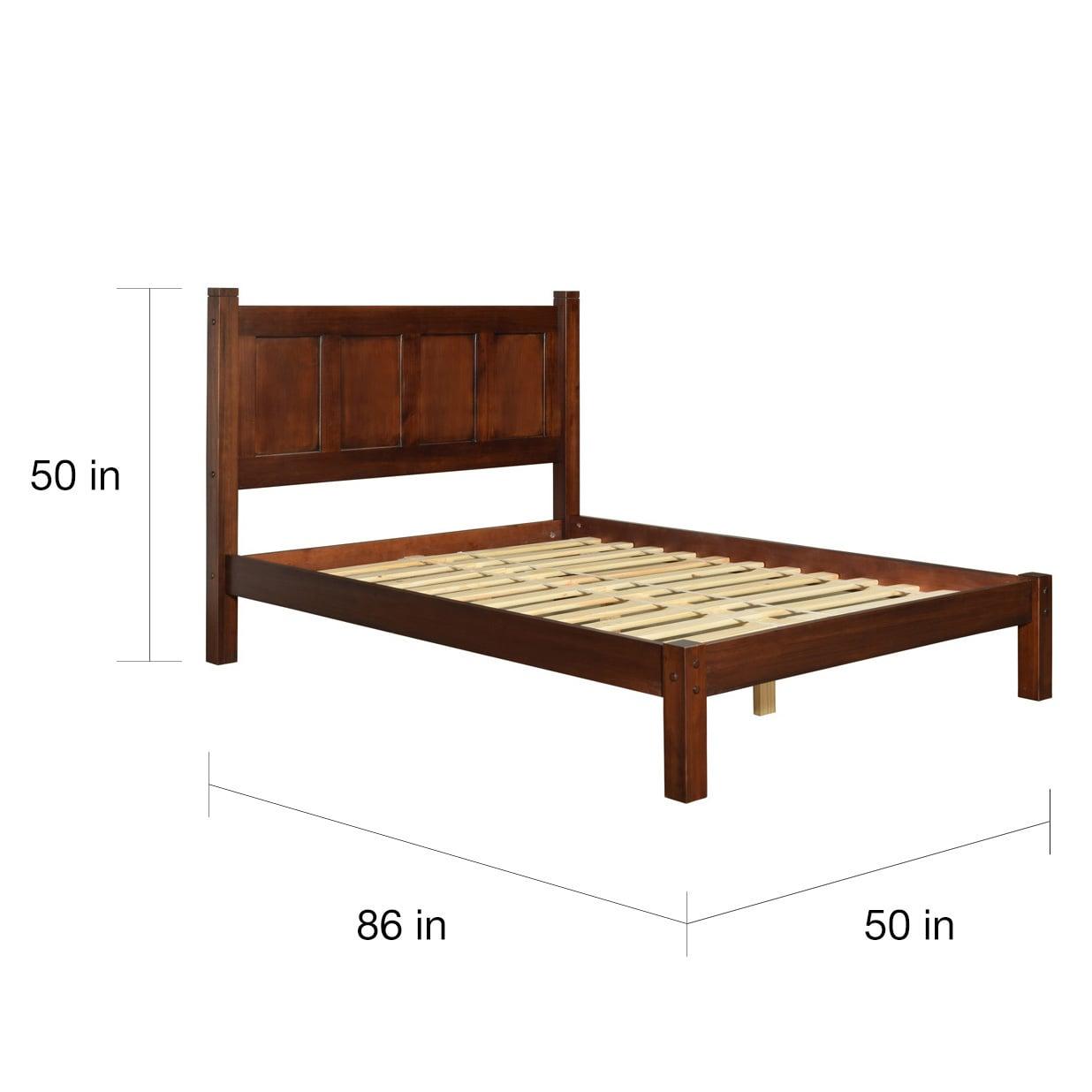 Shop Grain Wood Furniture Shaker Panel Queen Solid Wood Platform Bed ...