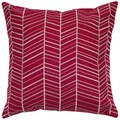 Rizzy Home 18-inch Herringbone Throw Pillow