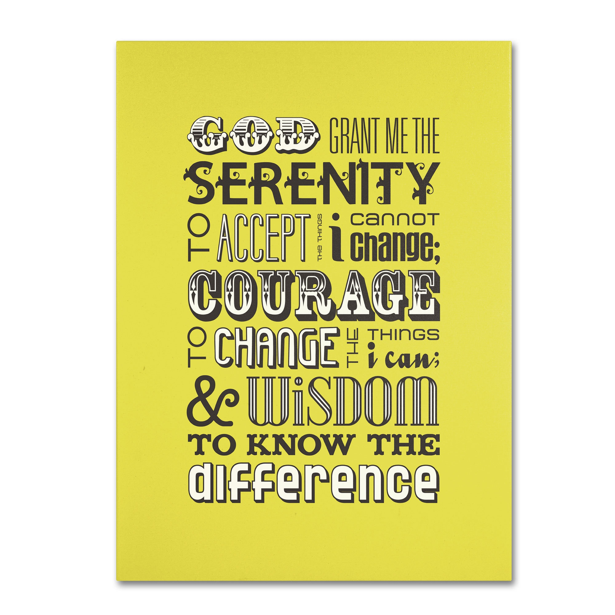 Shop Megan Romo \'Serenity Prayer\' Canvas Art - On Sale - Free ...