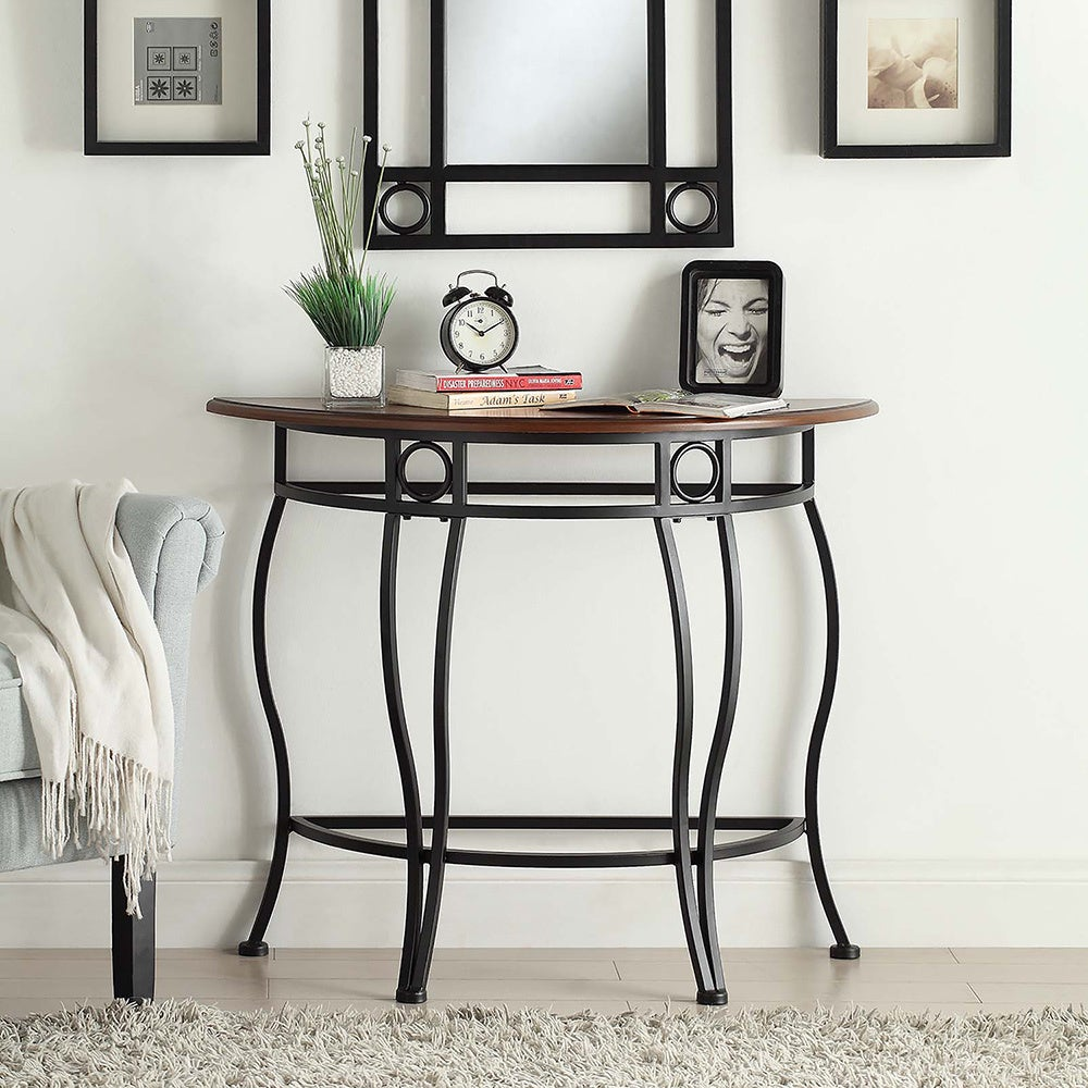 Shop Ava Half Moon Console Table   Free Shipping Today   Overstock.com    10452704