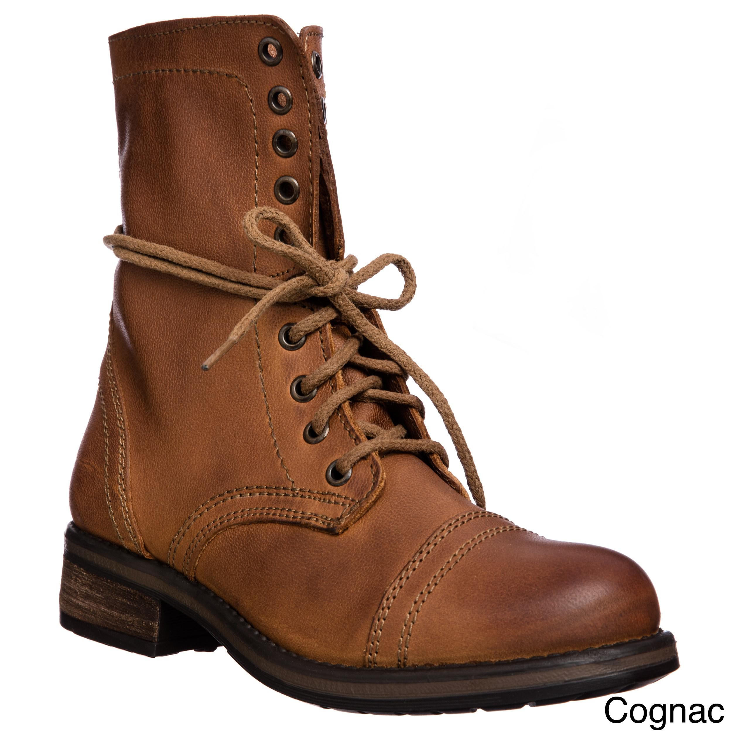 34f378bb27b Tropa2 Steve Madden Women's Lace up Combat Boot
