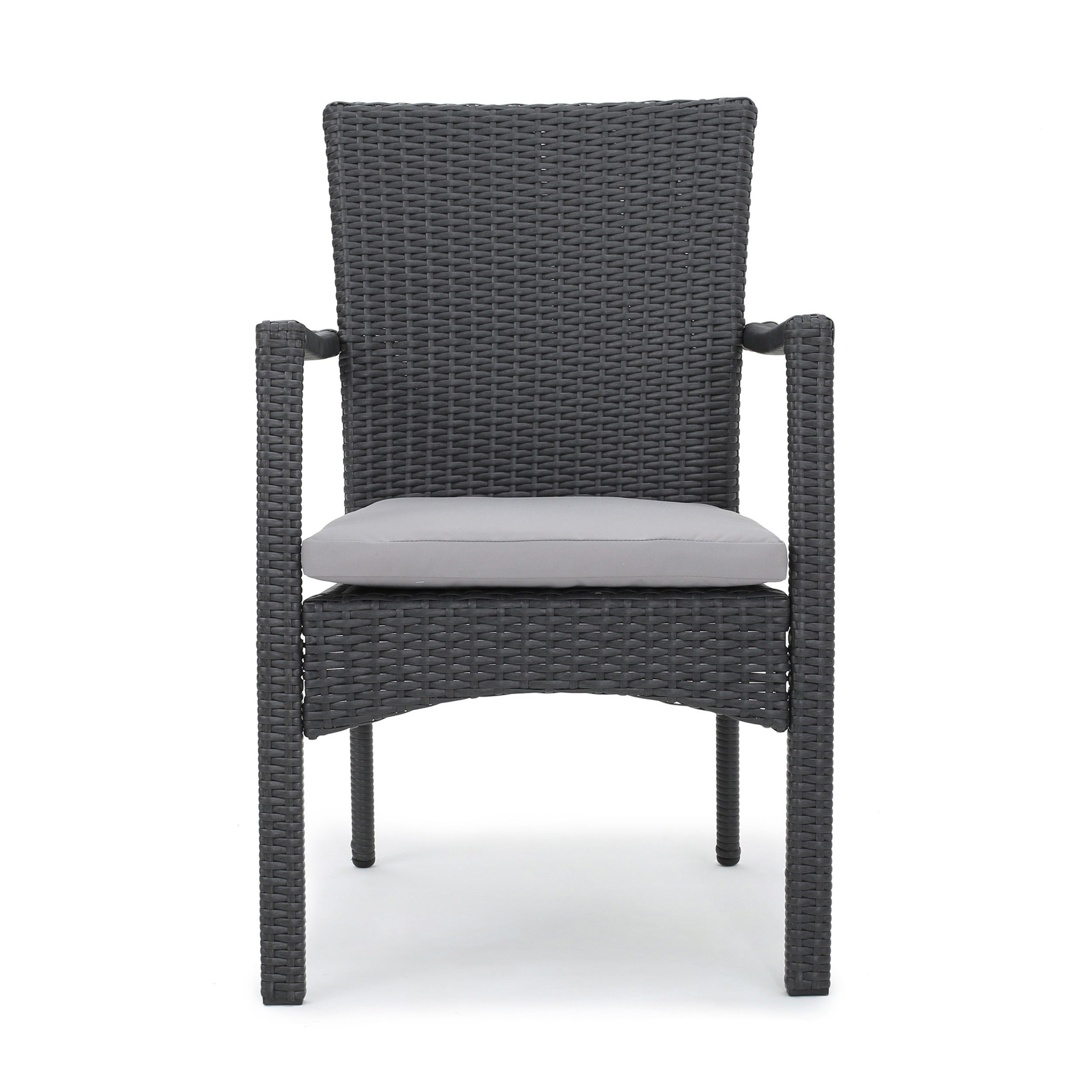 Corsica Outdoor Wicker Dining Chair with Cushion (Set of 2) by ...