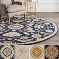 Hand-Tufted Wigton Floral Wool Rug (4' Round)