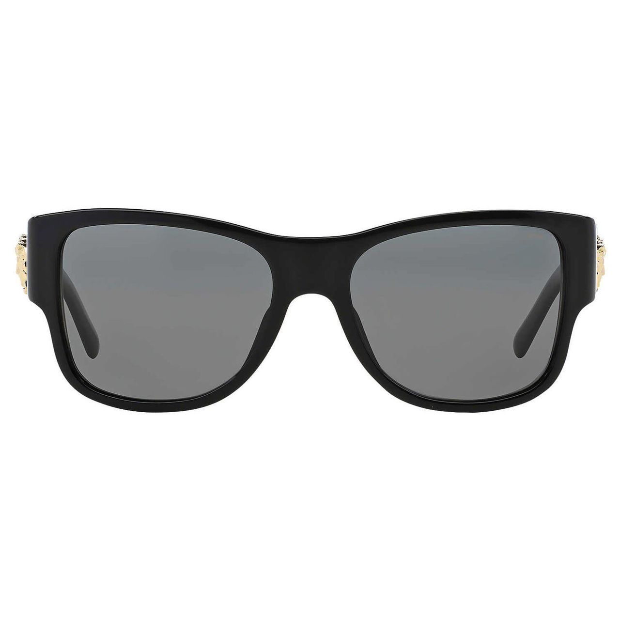 54ad5d96121 Shop Versace Men s VE4275 Plastic Square Polarized Sunglasses - Black -  Free Shipping Today - Overstock - 10455046
