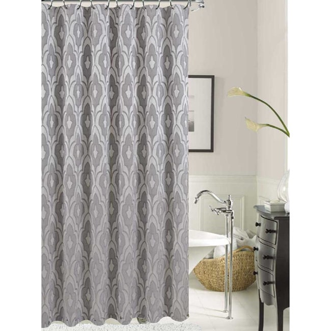 Shop Gramercy Park Solid Pattern Polyester Shower Curtain - Free ...