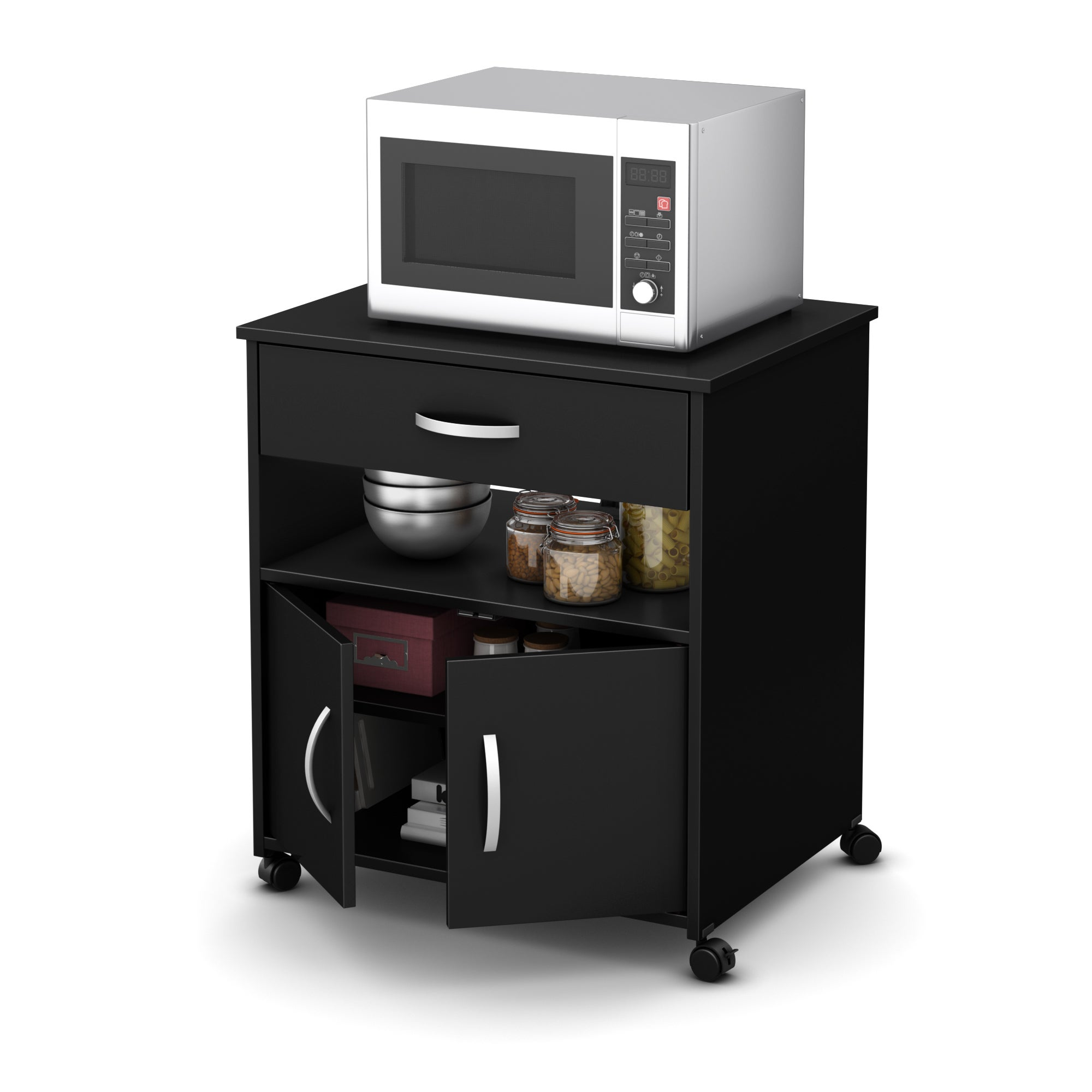 South S Fiesta Microwave Cart On Wheels Free Shipping Today 10455556