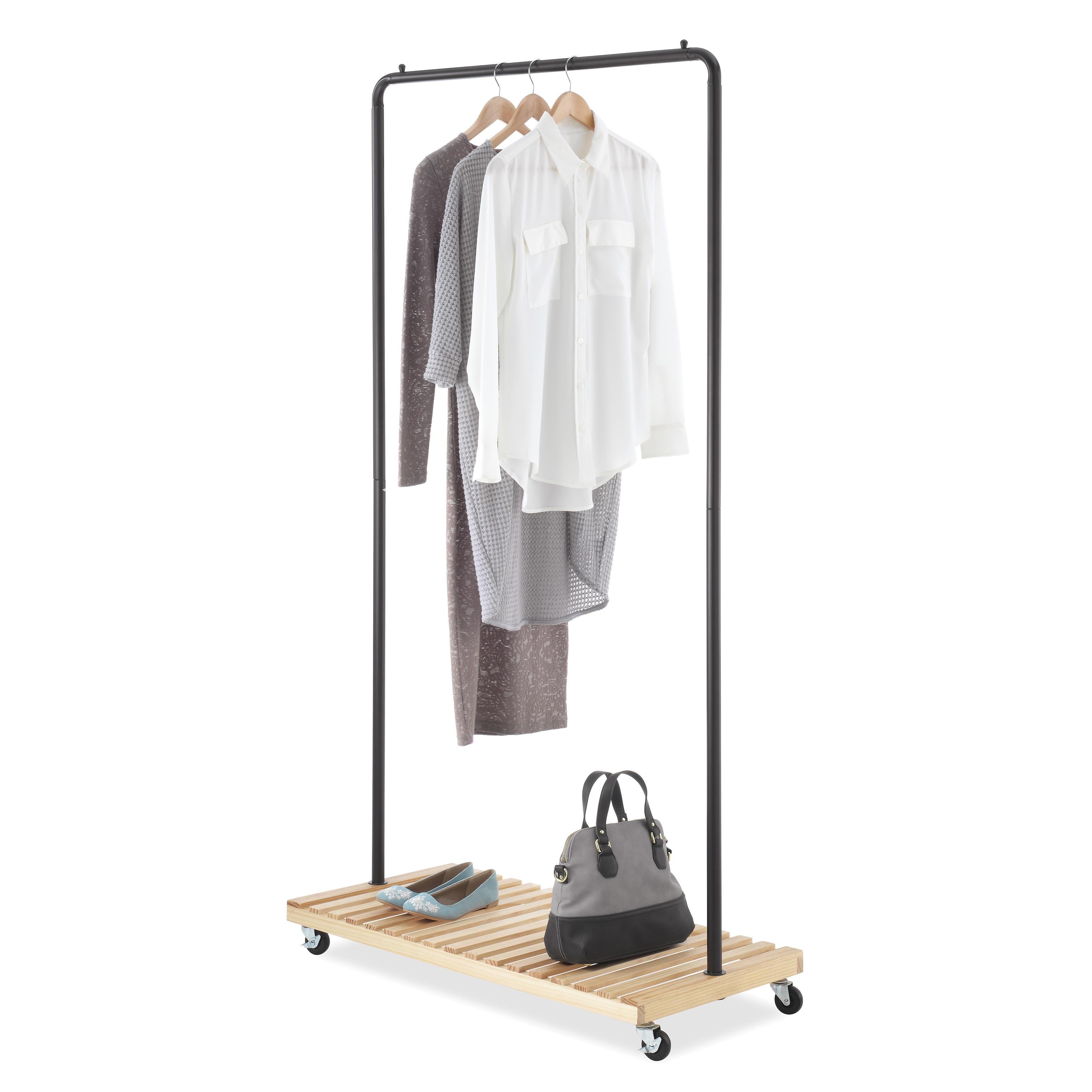 Whitmor 6301-5236-BB Slat Wood Garment Rack - Free Shipping Today -  Overstock.com - 17548454