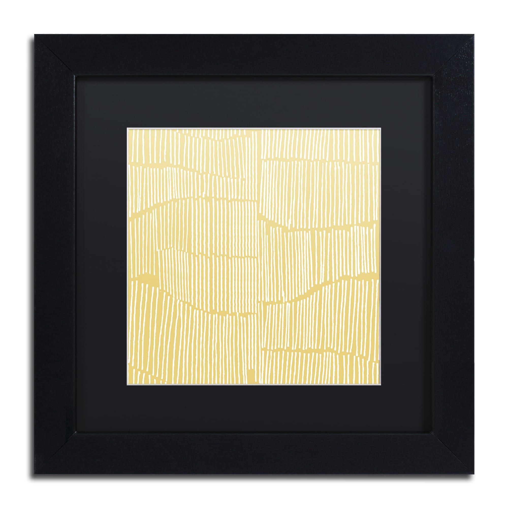 Kavan & Co \'Spaces Between II\' Black Matte, Black Framed Wall Art ...