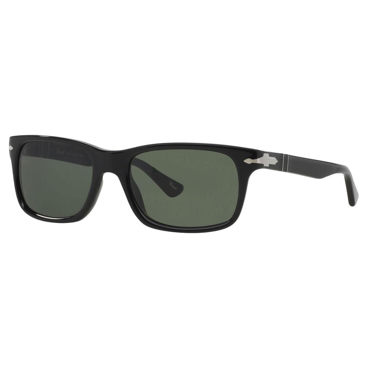 960ca0f829 Shop Persol Men s PO3048S Plastic Rectangle Sunglasses - Black ...