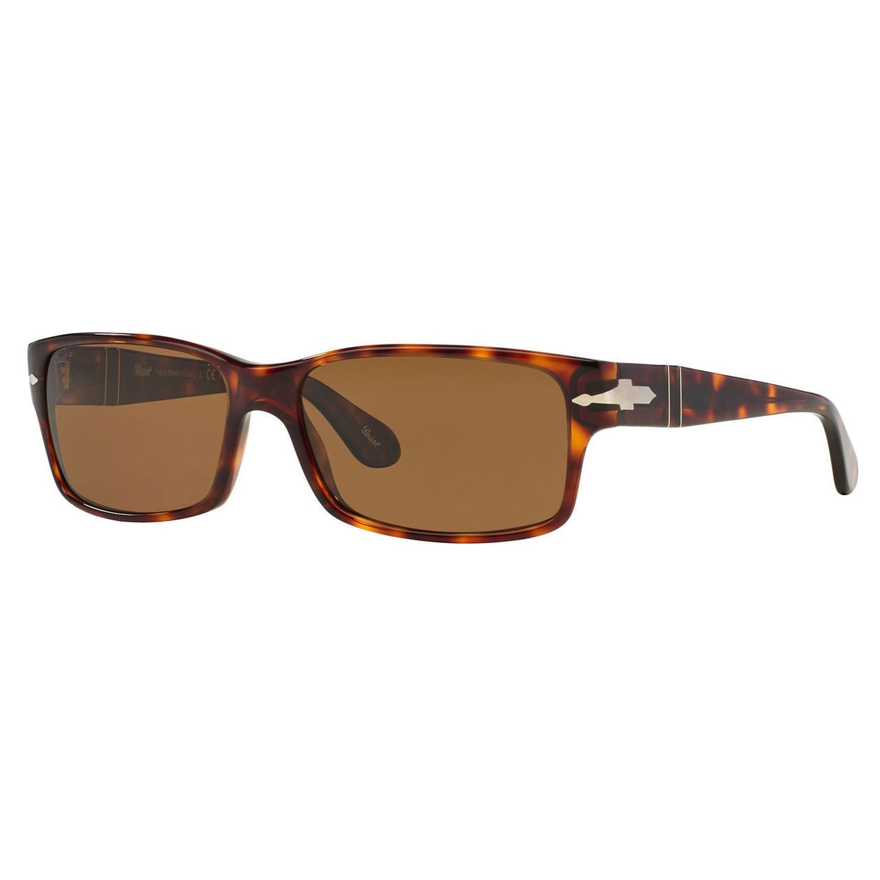 a2ee9f7394e Persol Men s PO2803S Plastic Rectangle Polarized Sunglasses - Tortoise -  Large