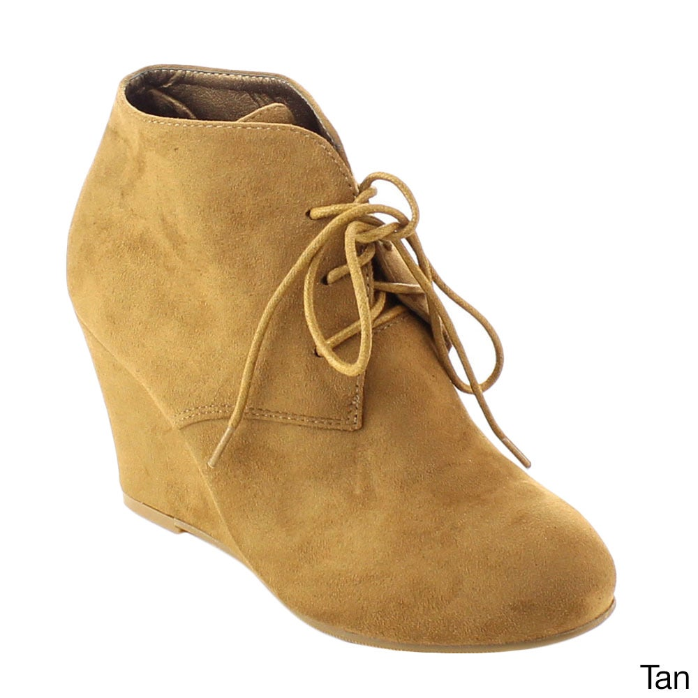 947f17e69b6 Shop Bonnibel Ollie-1 Women s Lace Up Wedge Heel Ankle Booties - Free  Shipping On Orders Over  45 - Overstock - 10459031