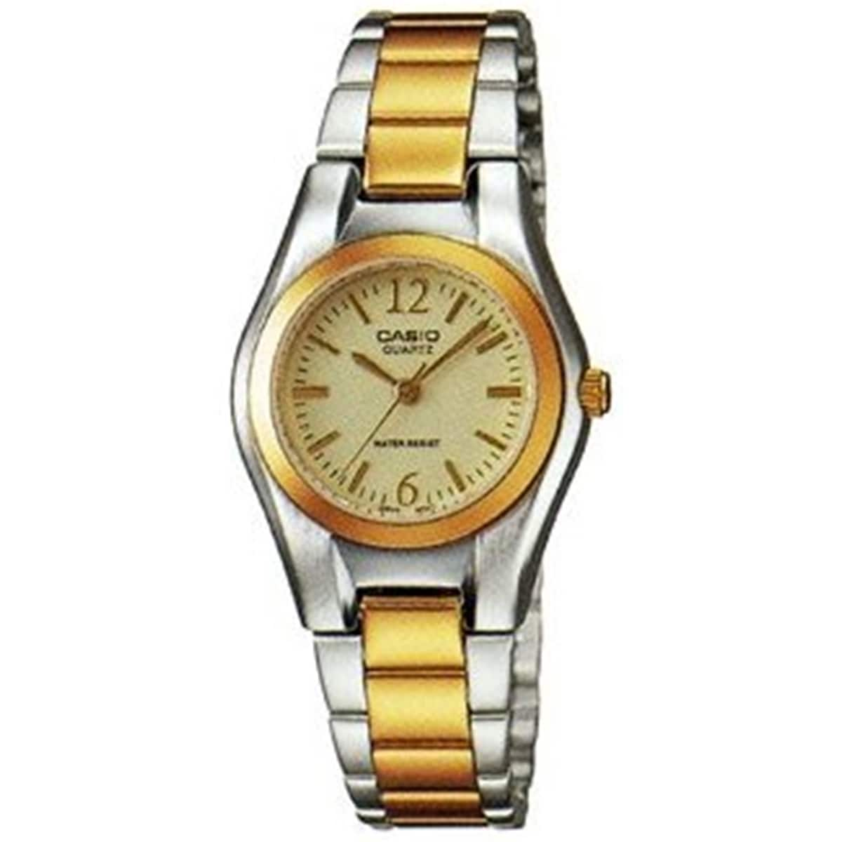 Shop Casio Womens Classic Two Tone Stainless Steel Watch Gold Fossil Es3590 Stella Multifunction Rose Free Shipping Today 10459534