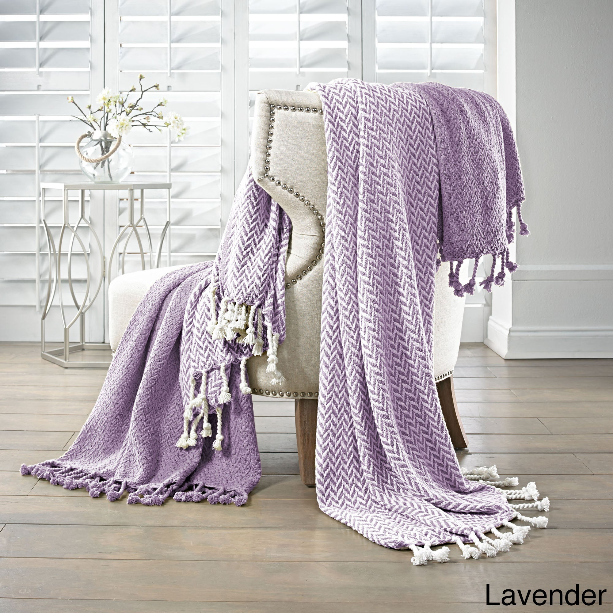 Amraupur Overseas 100 Percent Cotton Monaco Throws Set Of 2 On Free Shipping Orders Over 45 10460958