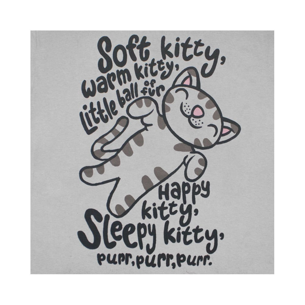 954b836cb Shop Juniors' Big Bang Theory Soft Kitty Song Grey Graphic T-Shirt - Free  Shipping On Orders Over $45 - Overstock - 10461095