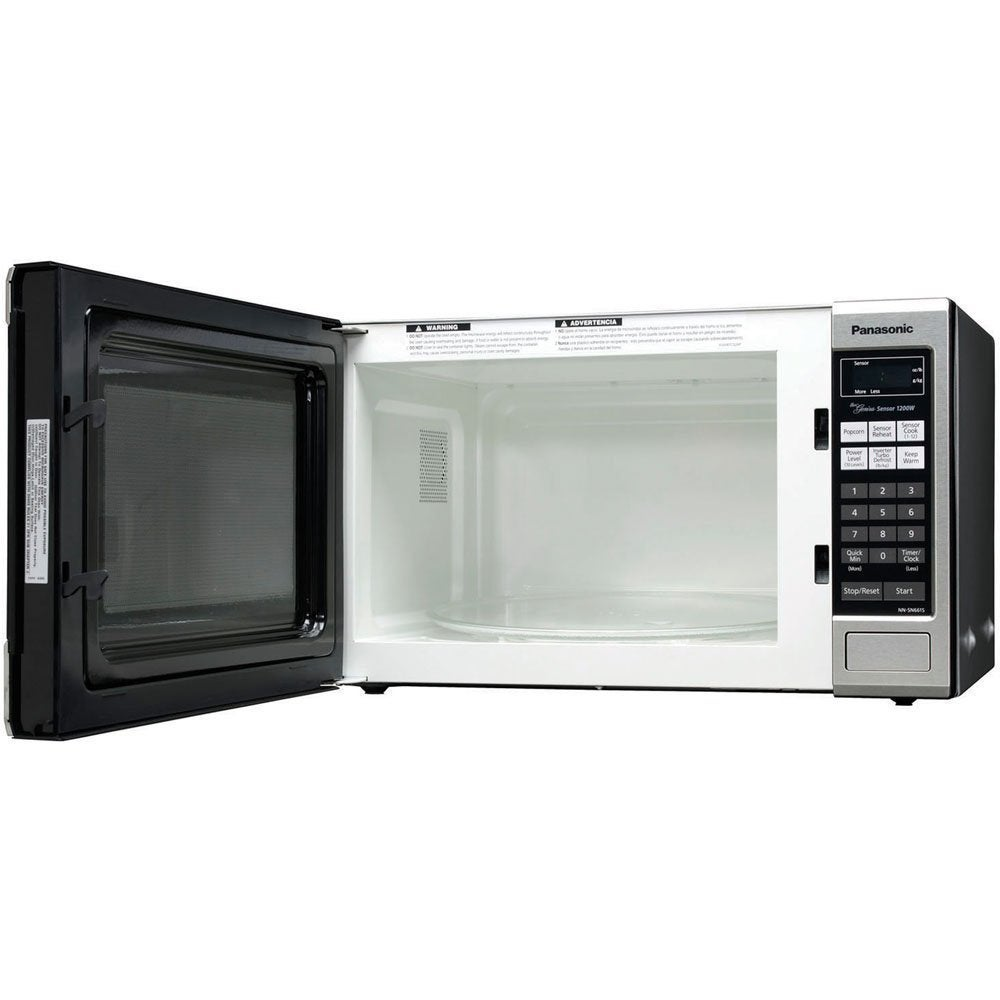 Panasonic NN-SN661S Stainless 1200W 1 2 cubic foot Countertop Microwave  Oven with Inverter Technology (Refurbished)