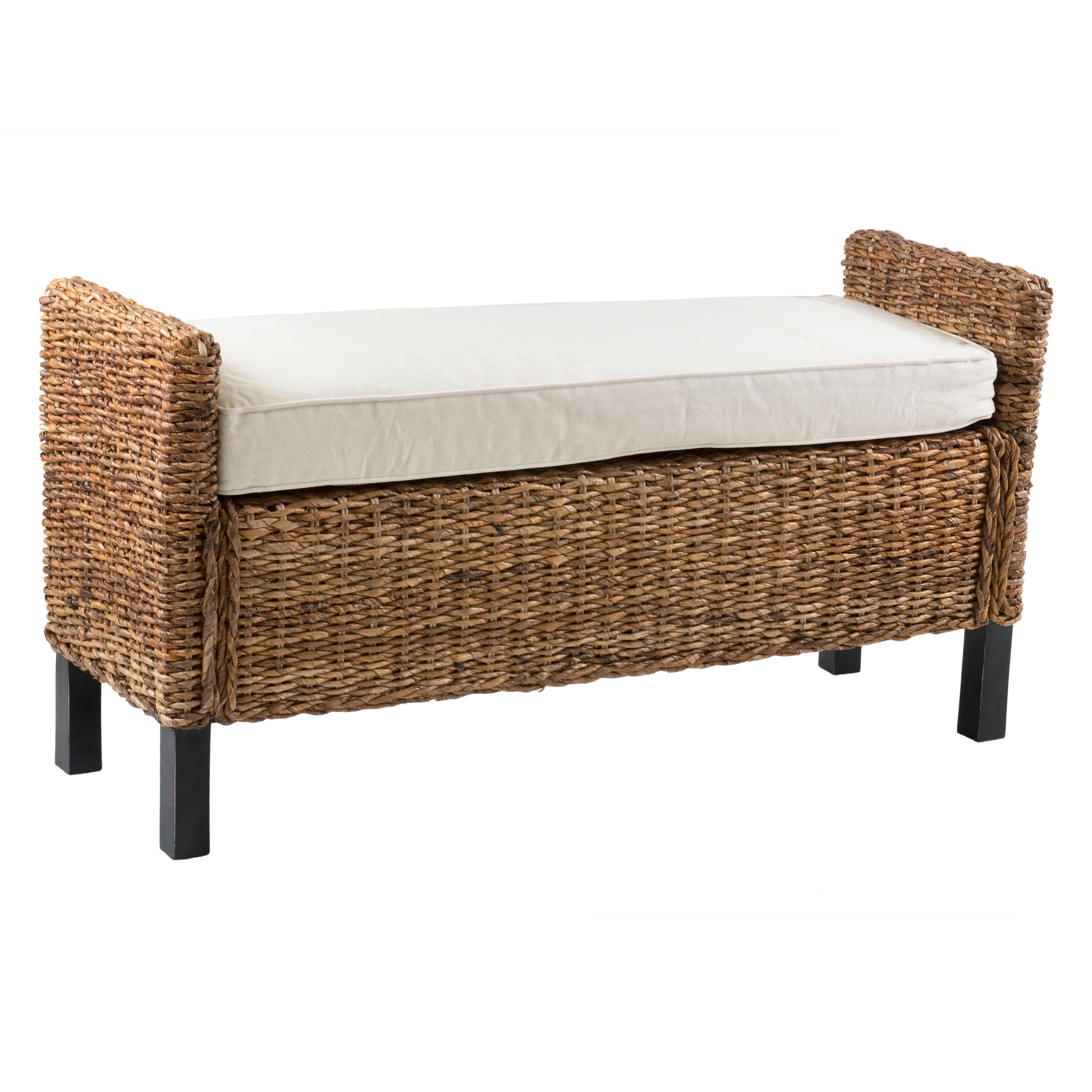 Shop guelph casual tan textured bench free shipping today overstock com 10461744