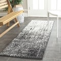 Safavieh Retro Mid-Century Modern Abstract Black/ Light Grey Distressed Runner (2'3 x 13')