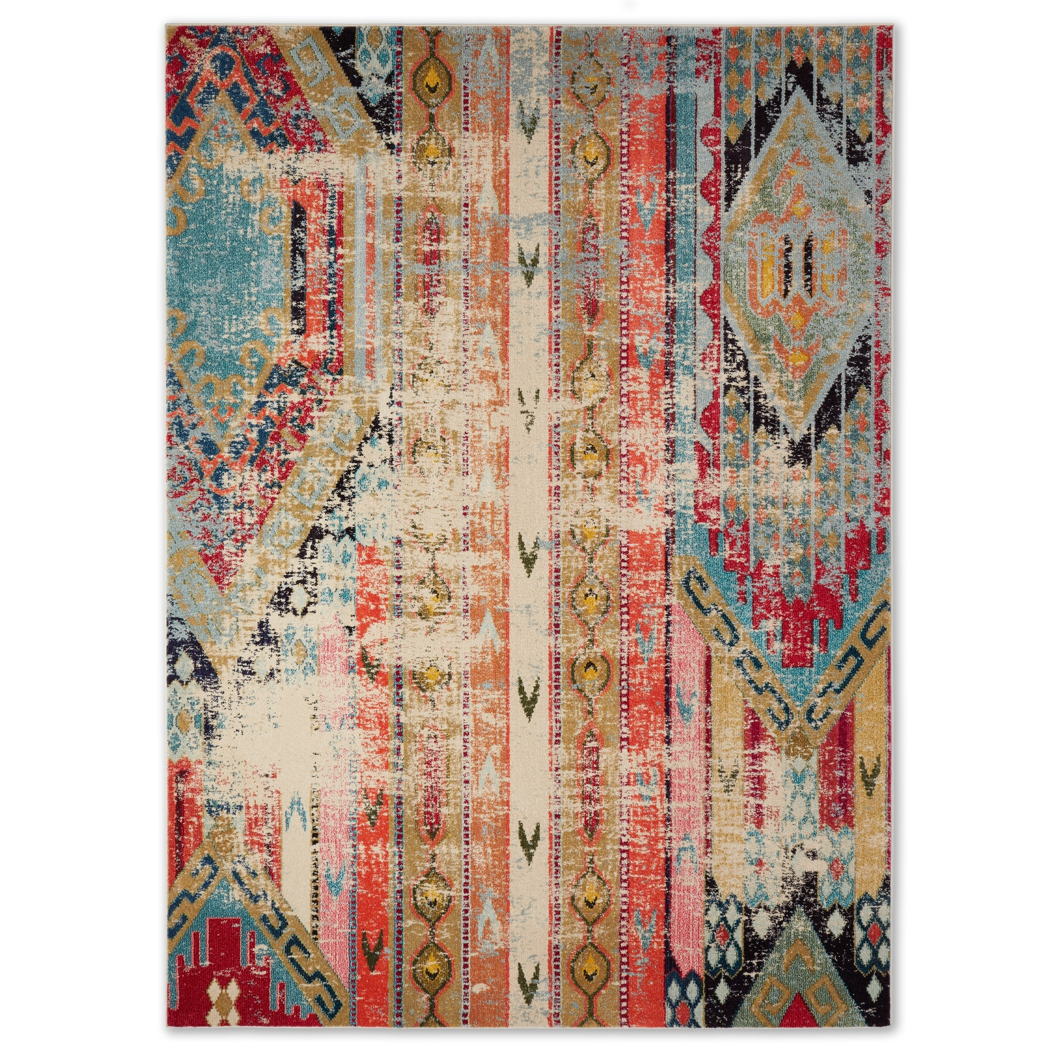 Safavieh Monaco Vintage Bohemian Multi-colored Distressed Rug (8' x 11') -  Free Shipping Today - Overstock.com - 17556335