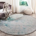 Safavieh Passion Watercolor Turquoise/ Ivory Distressed Rug (8' x 11')