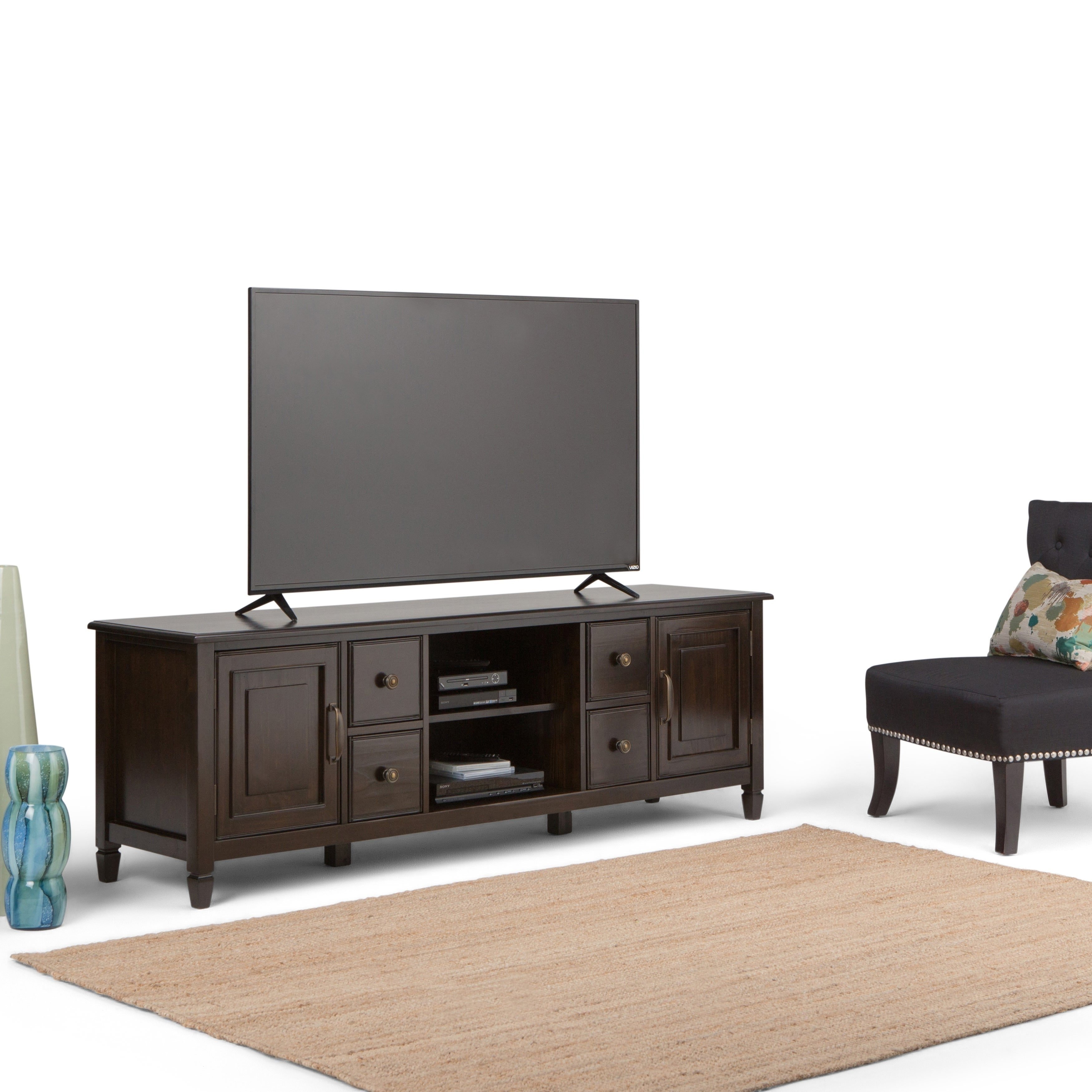 WYNDENHALL Hampshire 72 Inch TV Media Stand For Up To 80 Inch TVu0027s   Free  Shipping Today   Overstock.com   17557847