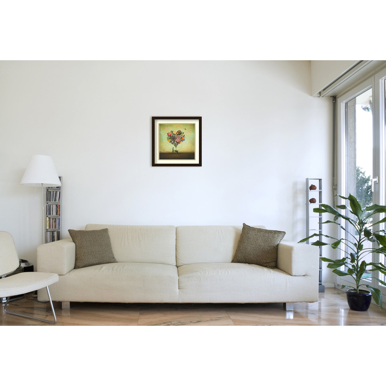 shop framed art print big heart botany by duy huynh 22 x 22 inch
