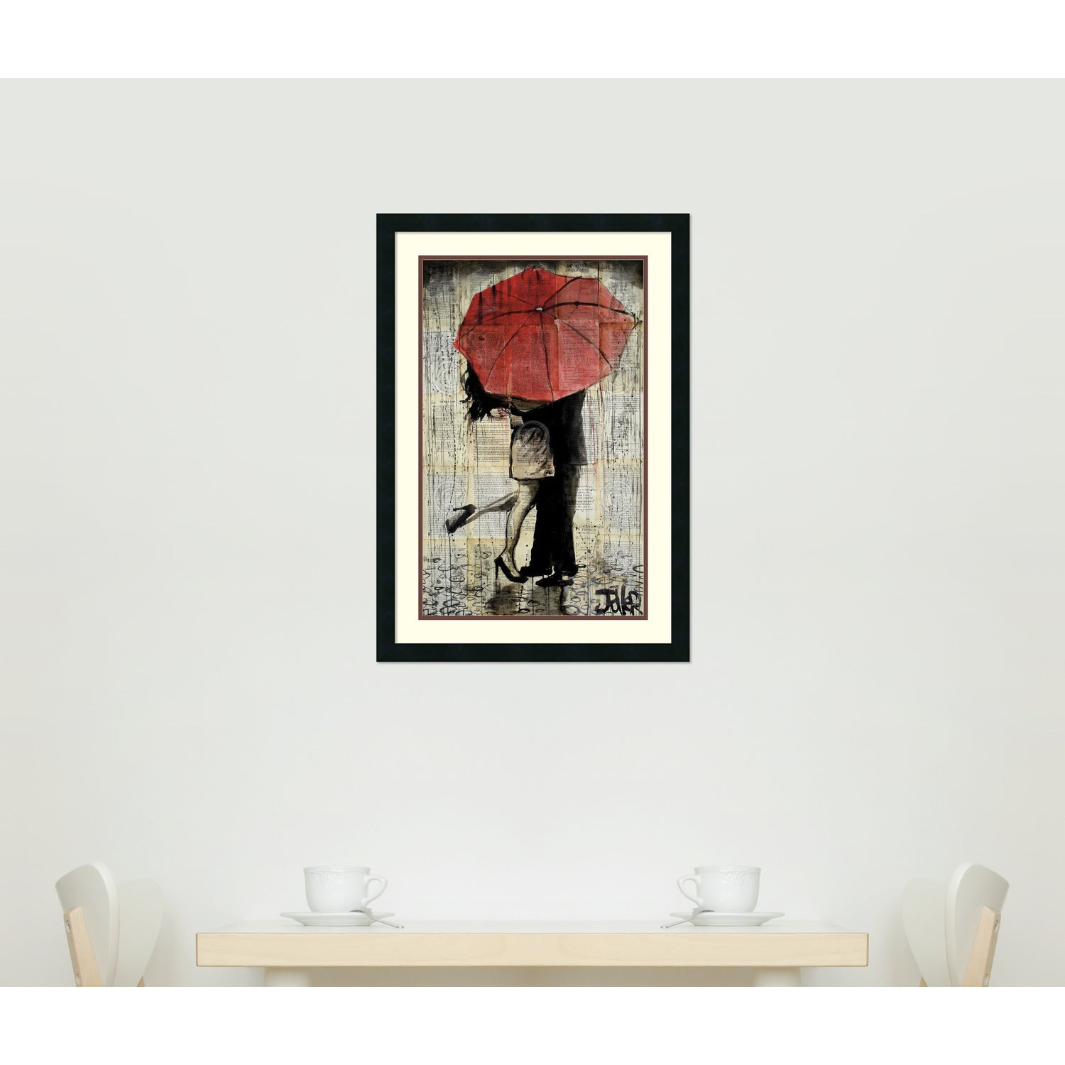 Shop Framed Art Print \'The Red Umbrella\' by Loui Jover - Free ...